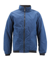 Men's Casual Lightweight Stand Collar Gym Fitness Zipper Navy Track Jacket image 2