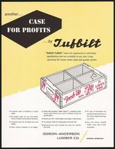 Vintage flier 7 UP white wooden crate Gideon Anderson Lumber Missouri n-... - $8.09