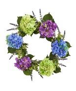 "22"" Hydrangea Artificial Wreath - $79.76"