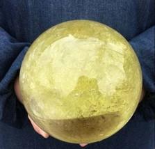 4900g 10.7LB Natural Citrine Crystal Sphere Ball Quartz Energy Healing 1... - $429.99