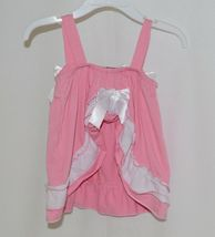 I Love Baby Pink White Sun Dress Ruffle Bloomers Size 80cm 1 to 2 Year Old image 3