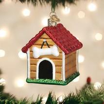 OLD WORLD CHRISTMAS DOG HOUSE GLASS CHRISTMAS ORNAMENT 20113 - $16.88