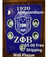 Zeta Phi Beta Sorority Founder's Wall Plaque Wood Shield Office Decor - $53.90