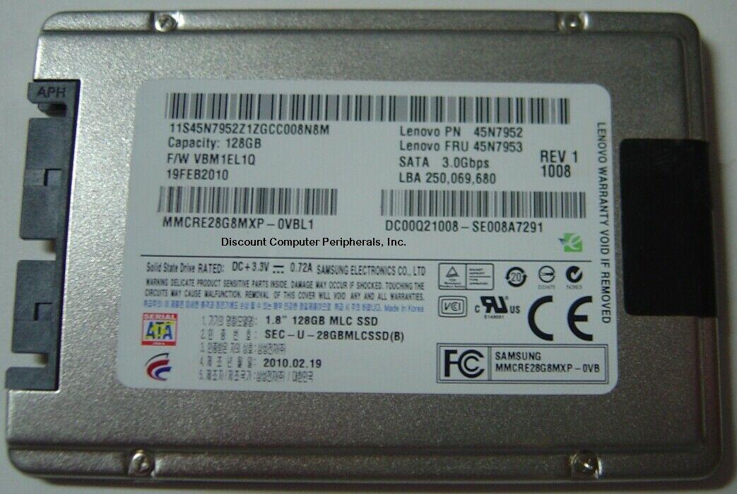 "1.8"" 128GB Micro SATA SSD Drive Samsung MMCRE28G8MXP Free USA Shipping"