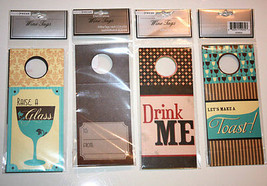 """WINE Party TAGS Design Focus 3.5"""" x 8"""" DECORATIVE Bottle Tags 4 SETS of ... - $29.97"""