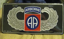 License Plate AIRBORNE AB Air Borne wings - $7.90