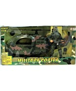"""Power Team World Peace Keepers Military Copter 12"""" Action Figure Soldier  - $158.39"""