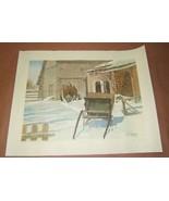 "Winter Scene Print B. Liaskas 19/25 25""x 19"" - $30.76"