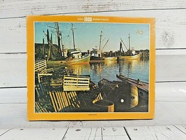New Vintage Whitman Guild Puzzle 1000 Pc. #4710-4 Lobster Boats Sealed - $18.95