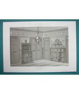 ARCHITECTURE PRINT : PARIS Mansion Interior view of Dining Room - $16.87