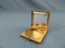 Vintage Estee Lauder Gold Basket Weave Powder Compact Beveled Mirror Germany - $10.00