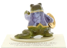 Hagen-Renaker Miniature Ceramic Frog Figurine Toadally Brass Band French Horn image 3