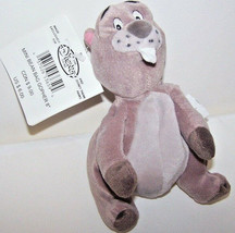 "The Disney Store Mini Bean Bag Brown GOPHER Gray Belly w Brown Paws 8"" P... - $9.41"