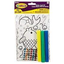 Kids Crafts Color-In Photo Card - $6.80