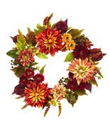 "22"" Dahlia  & Mum Wreath - $54.40"
