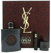 Yves Saint Laurent Black Opium Perfume 3.0 Oz Eau De Parfum Spray 3 Pcs Gift Set image 3