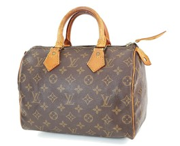 正宗LOUIS VUITTON Speedy 25 Monogram Boston手袋钱包#38345-$ 350.10