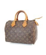 Authentic LOUIS VUITTON Speedy 25 Monogram Boston Handbag Purse #38345 - $350.10