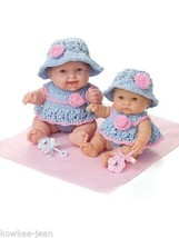 """Lots to Love Babies baby DOLL CLOTHES TO KNIT for 8"""" 10"""" dolls - see pics - $14.71"""