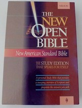 1990 Nelson NASB New American Standard Open Bible Burgundy Gen. Leather ... - $268.32
