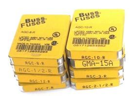 LOT OF 40 NEW COOPER BUSSMANN FUSES AGC-8-R, GMA-15A, AGC-2-1/2-R, AGC-3-R