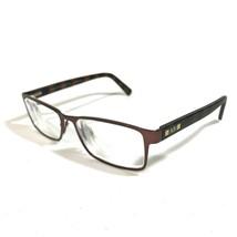 Armani Exchange Brown Rectangular Tortoise Striped Eyeglass Frames AX100... - $32.73