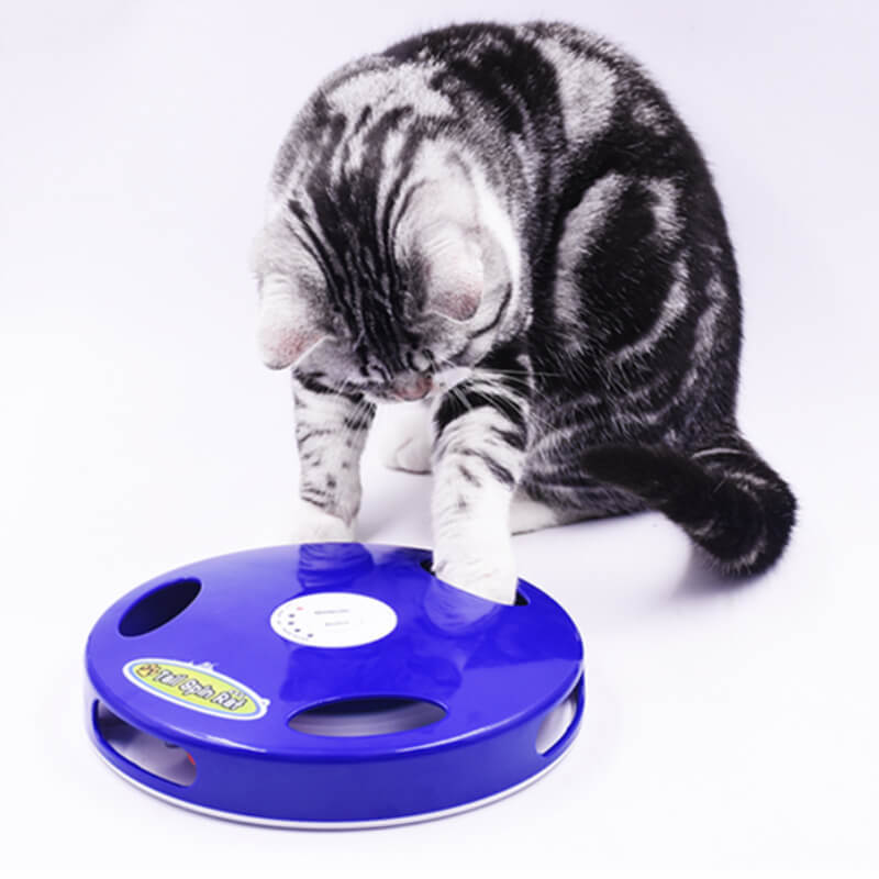 Tail Spin Rat, Electric Toy for Cat or Kitten, Interactive Battery Operated Toy image 5