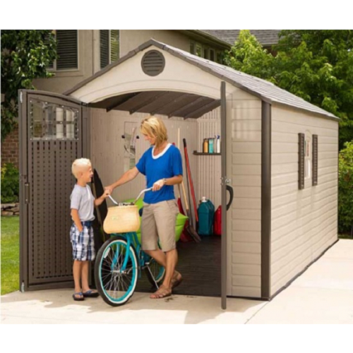 Lifetime Sheds 8x17.5 Plastic Storage Shed w/ 2 Windows [60121]