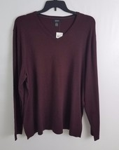 Alfani Slim-Fit V-Neck Long Sleeve Sweater Port Heather XXL - $14.99