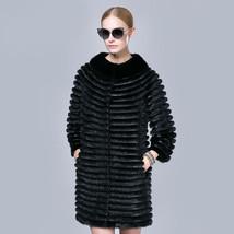 Black Mink Fur coat with Genuine Leather - $841.50