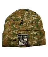 New York Rangers Fanatics NHL Hockey Camo Cuffed Knit Beanie Winter Hat  - $18.99