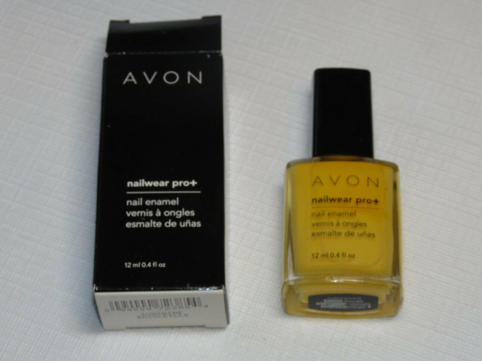 Avon NailWear Pro+ Nail Enamel Sunshine 12 ml 0.4 fl oz nail polish mani pedi;; - $19.79