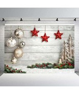Christmas Background for Photography Wood Photo Backdrop Baby Xmas Tree ... - $76.99+