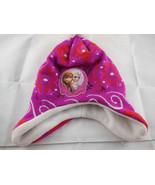 Disney Frozen Anna Elsa Girl Pink Earflap Winter Hat Cap knit w fleece l... - $5.93