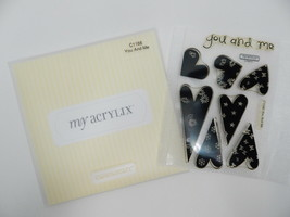 Close To My Heart Acrylix Stamp Set C1166 You and Me Designer Hearts Flowers - $9.89