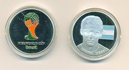 Lionel Messi World Cup Silver Plated Medal FIFA Soccer Brazil 2014 - Coi... - $9.40