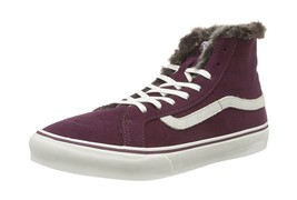 Vans Women's U Sk8-Hi Trainers Plum / White 2.5 UK - $78.80
