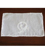 Roosters Vintage Madeira Hand Embroidery Monogram Linen Cocktail Napkins... - $136.50