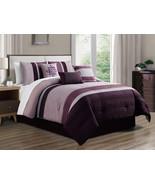 11-P Landon Cube Hexagon Trivet Comofrter Curtain Set Purple Lavender Li... - $117.54