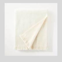 Threshold Boucle Faux Mohair Throw Blanket Cream   - $23.75