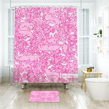 Flower Lilly Shes A Fox Shower Curtain Waterproof & Bath Mat For Bathroom - $15.30+