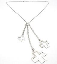 Halskette Silber 925, Kette Venetian, Drei Kreuze Anhänger, Glänzend und Matt image 1