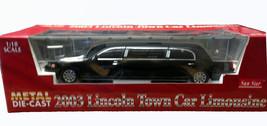 Sun Star black 2003 Lincoln Town Car Limousine DIECAST SCALE 1:18 - $127.50