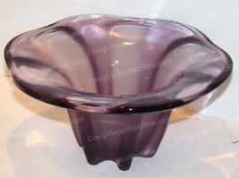 Crystal Floral Lily Artglass Centerpiece (Larry Lasla for Mikasa) Amethyst - $38.12
