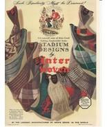 1941 Vintage Ad Stadium Designs by Interwoven Socks - $8.99