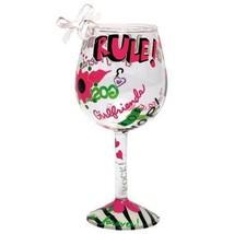 Lolita Holiday Glass Christmas Mini-Wine Ornament, Girlfriends Rule - $48.50