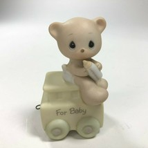 Precious Moments 1985 Train Figurine BABY BEAR May Your Birthday Be Warm - $6.58