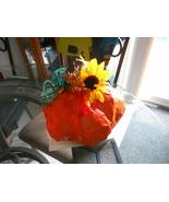 Handmade Fall Table Top Paper Mache Pumpkin - $15.00