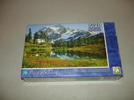 New Puzzlebug 500 Piece Jigsaw Puzzle Mt Shuksan Cascades Nat'l Park, Wa... - $10.15