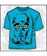Star Wars Classic Threepeeoh Head Blue T-Shirt NEW UNWORN - $15.47